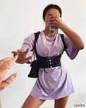 Женское платье свободного силуэта  с корсетом, фото 3