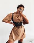 Женское платье свободного силуэта  с корсетом, фото 5