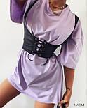 Женское платье свободного силуэта  с корсетом, фото 4