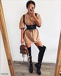 Жіноче плаття вільного силуету з корсетом, фото 6