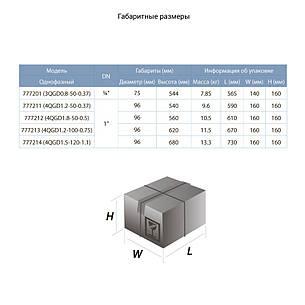 Насос шнековый скважинный 0.5кВт H 107(34)м Q 40(30)л/мин Ø96мм (нерж) AQUATICA (DONGYIN) (777212), фото 2