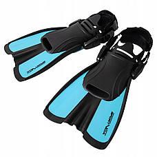 Ласти SportVida SV-DN0007JR-M Size 34-38 Black/Blue, фото 2