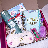 "Подарок бокс для девочки ""Llama Box #2"" от WowBoxes"