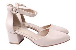 Туфли женские летние стильные на каблуке , бежевые Liici