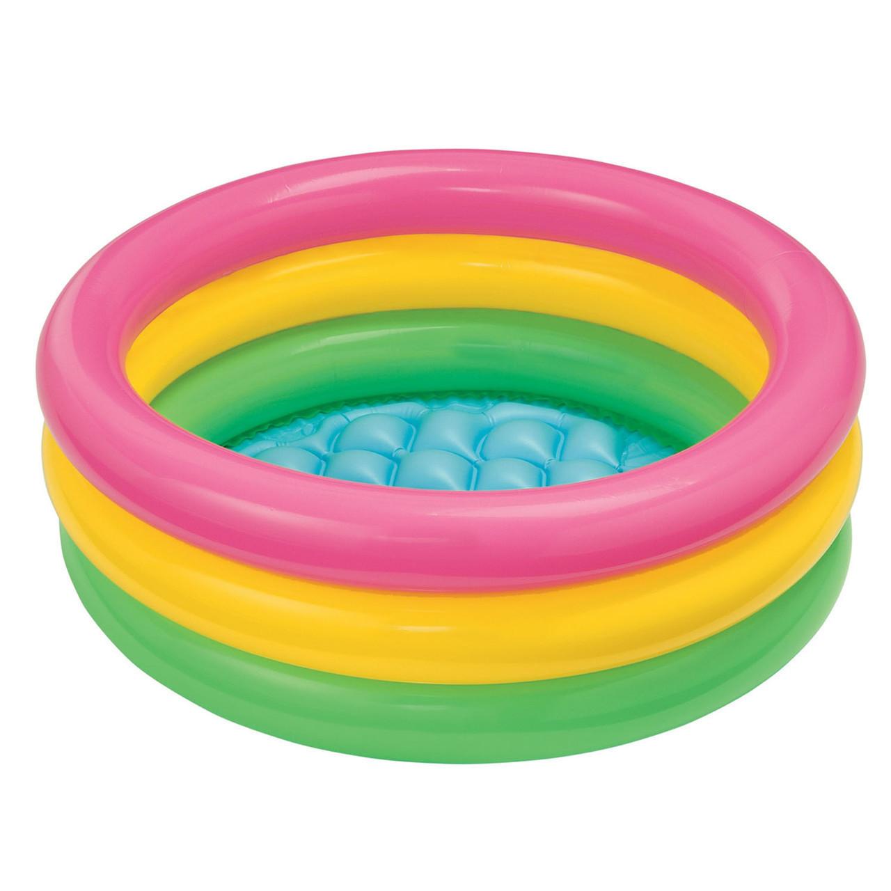Детский надувной бассейн Intex Радужный 114х25 см (57412)