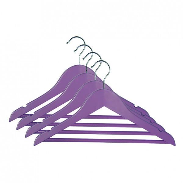 Набор вешалок для подростковой одежды Мій Дім 33.5 х 1.2 см, 4 шт розовые