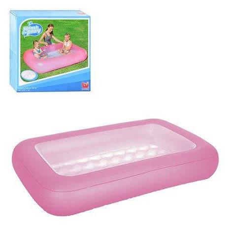 Детский надувной бассейн Bestway 51115 прямоугольный Розовый, фото 2