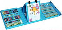Дитячий набір для малювання 208 предметів у зручному кейсі з ручкою + Мольберт Блакитний TK00027