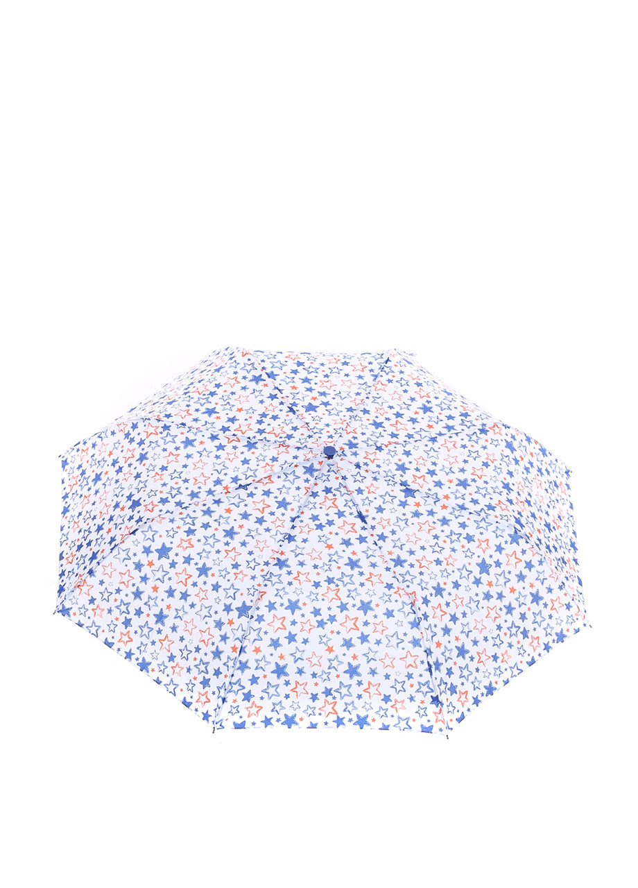 Зонт-полуавтомат Baldinini Белый в звездах (566)
