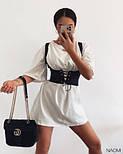 Сукня з корсетом жіноча літнє з коротким рукавом, фото 5