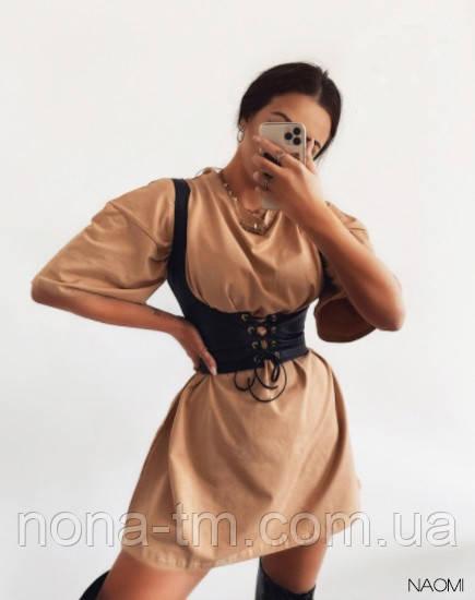 Сукня з корсетом жіноча літнє з коротким рукавом