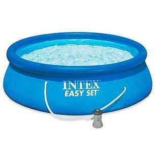 Бассейн надувной с фильтр-насосом Intex Easy Set Pool 28142 366х84 см, фото 2