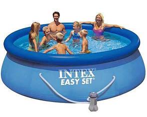 Басейн надувний з фільтр-насосом Intex Easy Set Pool 28142 366х84 см, фото 2