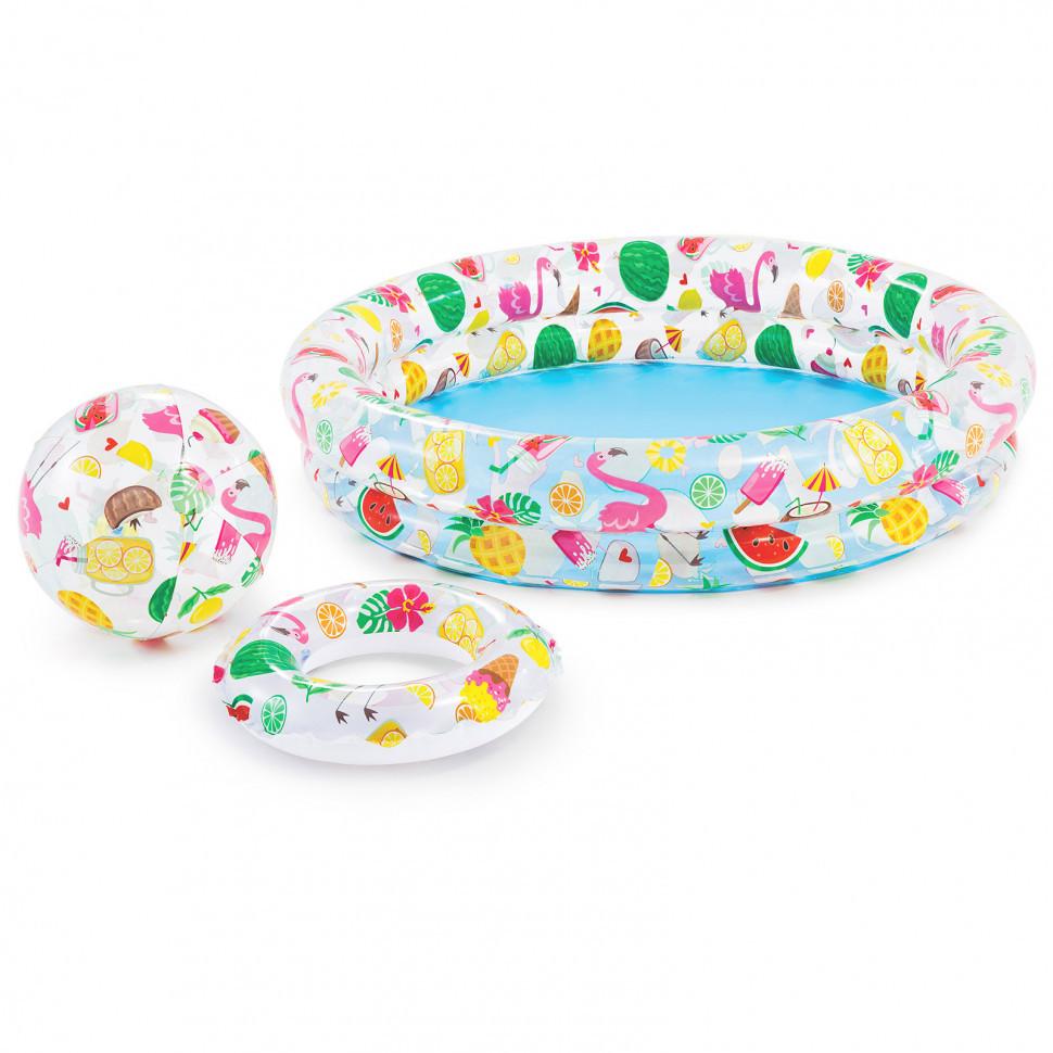 Дитячий надувний басейн Intex 59460 Зірки