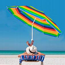 Пляжний парасольку з регульованою висотою та нахилом Springos 180 см BU0009, фото 3