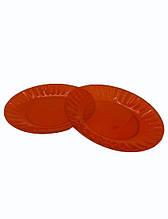 Тарелка одноразовая стеклоподобная стекловидная  205 мм для второго блюда красная стеклопластиковая (10 шт)