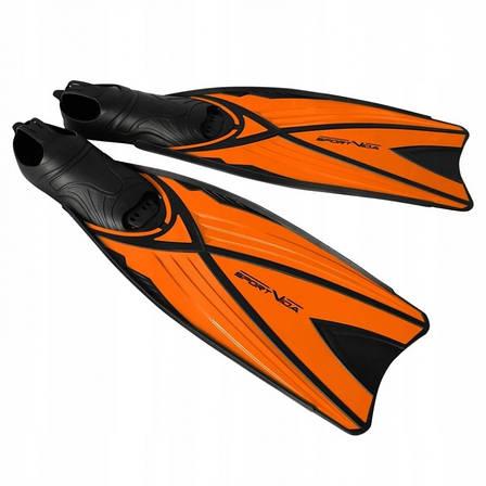Ласты SportVida SV-DN0006-S Size 38-39 Black/Orange, фото 2