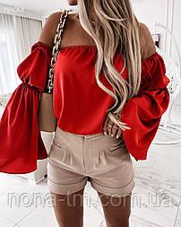 Жіноча блузка літня з довгим рукавом