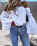 Жіноча блузка літня з довгим рукавом, фото 5