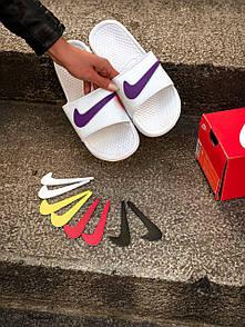 Жіночі тапочки Nike White Logo Multicolor 37