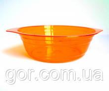 Тарелка одноразовая  стеклоподобная стекловидная 500 мл оранжевая (10 шт) стеклопластиковая для первого