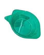 Тарелка одноразовая стеклоподобная стекловидная 500 мл  зеленая (10 шт) стеклопластиковая глубокая