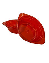 Тарелка одноразовая стеклоподобная стекловидная диаметр 500 мл  красная (10 шт) стеклопластиковая суповая