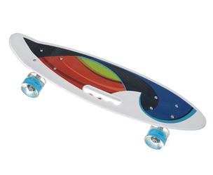Пенни Борд - скейт SL-AS 108 белый | пенниборд скейтборд со светящимися колесами и декой с ручкой