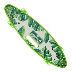 Пенни Борд - скейт SL-AS 108 салатовый | пенниборд скейтборд со светящимися колесами и декой с ручкой