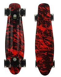 Пенни Борд - скейт Best Board 25 Пламя со светящимися колесами, двухсторонний окрас | пенниборд скейтборд