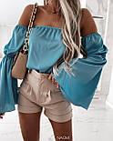 Блуза жіноча літнє з об'ємними рукавами, фото 3