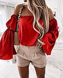 Блуза жіноча літнє з об'ємними рукавами, фото 5