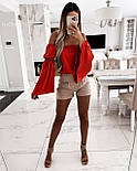 Блуза жіноча літнє з об'ємними рукавами, фото 6