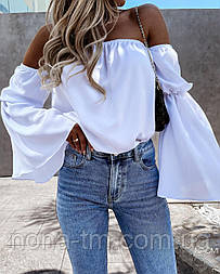 Блуза жіноча літнє з об'ємними рукавами