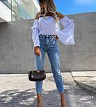 Блуза жіноча літнє з об'ємними рукавами, фото 2