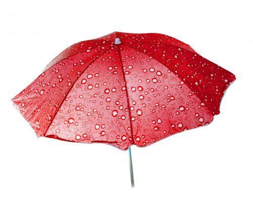 Зонт пляжный Toysi Капельки Красный (TOY-106617)