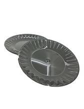 Одноразовая тарелка  стеклоподобная стекловидная диаметр 205 мм  черная (10 шт) стеклопластиковая