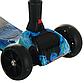 Дитячий Турбо самокат РАКЕТА з димом і музикою Вогонь Вода, триколісний самокат з турбінами і підсвічуванням, фото 2