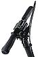 Самокат дитячий 001PX складной чорний (до 100кг) двоколісний самокат з амортизаторами, гальмом і PU колесами, фото 2