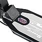 Самокат дитячий 001PX складной чорний (до 100кг) двоколісний самокат з амортизаторами, гальмом і PU колесами, фото 3