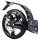 Самокат дитячий 001PX складной чорний (до 100кг) двоколісний самокат з амортизаторами, гальмом і PU колесами, фото 4