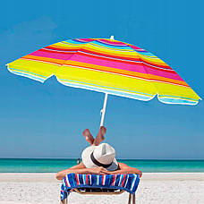 Пляжний парасольку з регульованою висотою Springos 160 см BU0005, фото 3