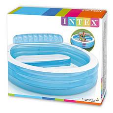 Басейн надувний Intex 57190 дитячий з надувним сидінням Блакитний (int_57190), фото 3