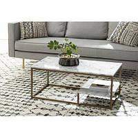Кофейный журнальный столик в стиле LOFT Коричневый (NS-573)