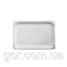 Тарілка паперова прямокутна 210*150 мм Біла 50шт (1 пач.)