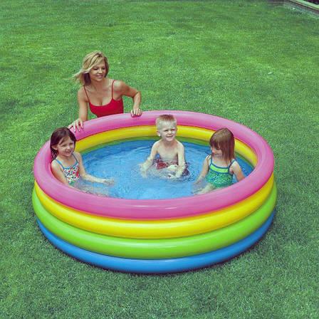 Дитячий надувний басейн Intex 56441 Палаючий захід сонця, фото 2