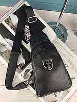 Мужская сумка слинг Philipp Plein Филипп Плейн