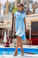 Платье рубашка свободного кроя    р-ры 42-48 арт. 1033