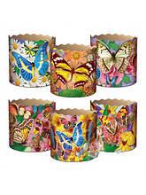 Форма для випічки паски (85*90) Метелики(250гр) (50 шт)