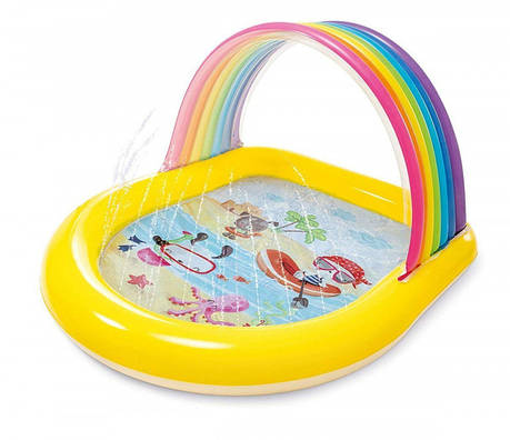 Дитячий надувний басейн Intex 57156 Веселка 147 х 130 х 86 см Різнобарвний (bint_57156), фото 2
